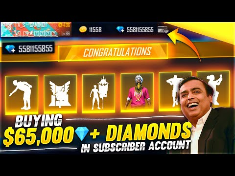Buying 30,000 Diamonds & Dj Alok And All Emote From Store In Noob Brother Id 😍 - Garena Free Fire