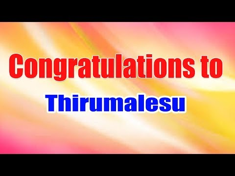 Congratulations to Mr. Thirumalesu for Clearing Micrisoft Python Certification (98 - 381) with 93% thumbnail