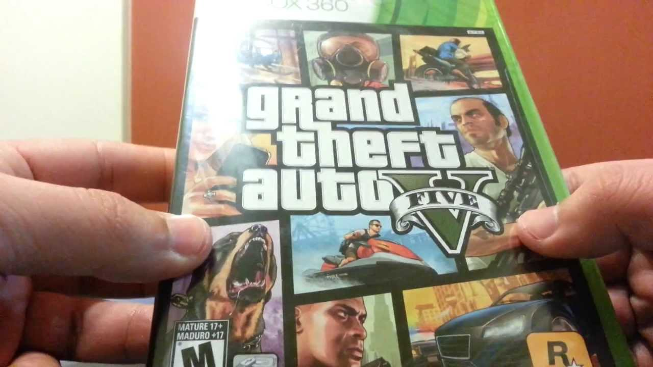 Grand Theft Auto 5 Unboxing En Espanol Argentina Xbox 360 Youtube