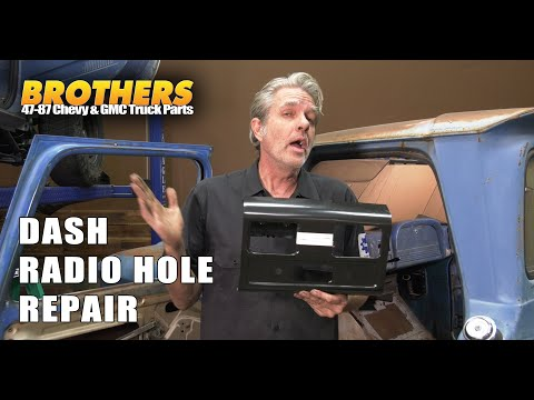 1960-66 Chevy & GMC Truck Dash Radio Hole Repair / Fixing What Someone Destroyed