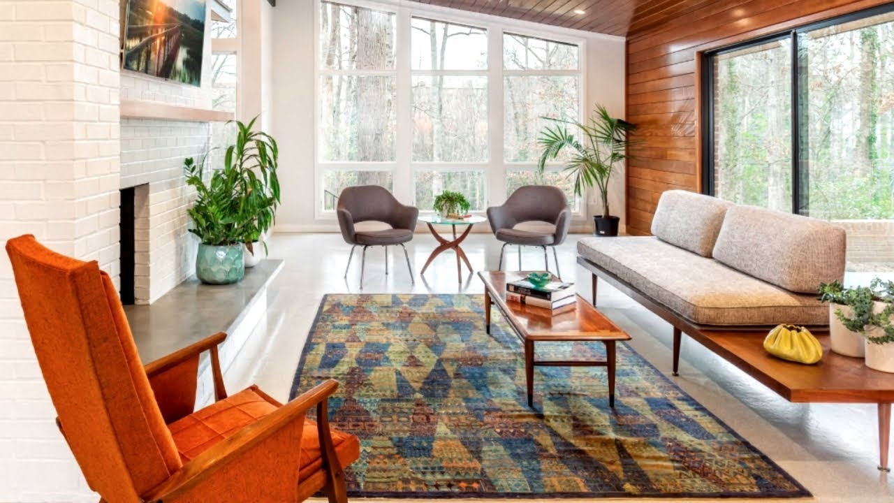 45 Mid-Century Modern Living Room   Design Ideas - YouTube