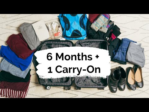 How to Pack for a Long Trip in a Carry On | 8 Packing Tips for 10 Days or 6+ Months in Europe
