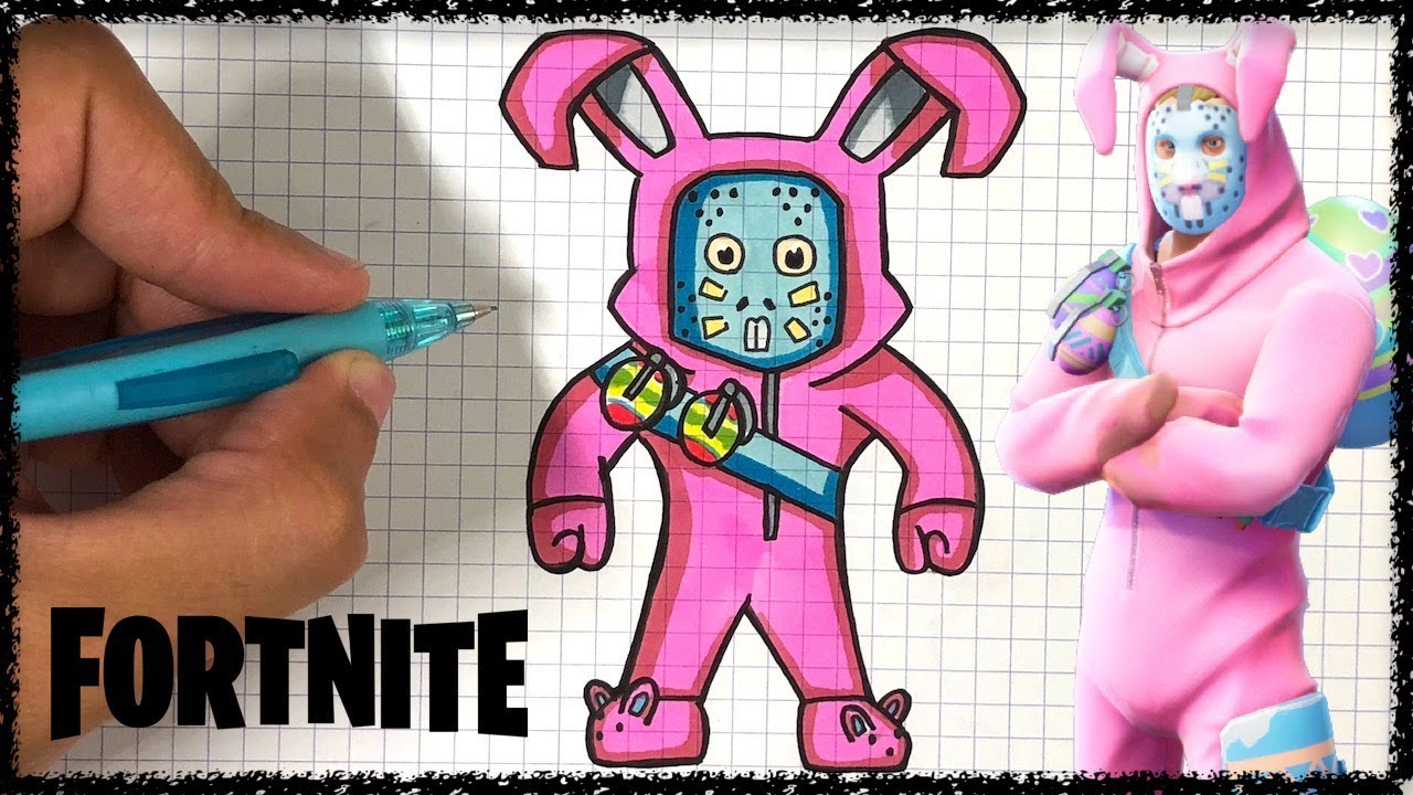 How To Draw Rabbit Raider Fortnite
