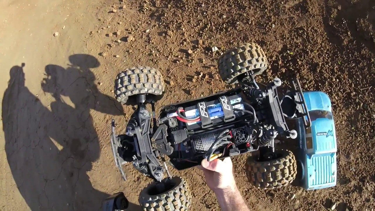 Proline Pro MT 4x4 `Nose Plant Special` with Tekno EB48SL, Arrma Outcast  and Kraton 6s