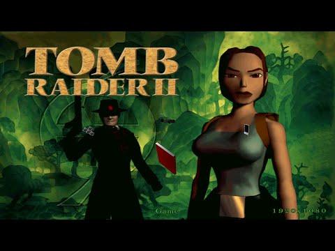 Tomb Raider II HD Upscale x2 - Short Clip, The Great Wall, Boulders Scene