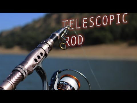 TELESCOPIC FISHING ROD CHALLENGE (INSANE)