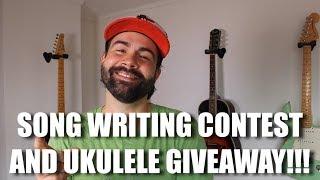 Ukulele Song Writing Contest and Ukulele and T-Shirt Giveaway!