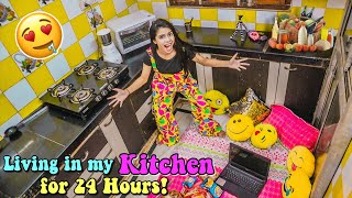 Living in my Kit¢hen (Rasoda) for 24 HOURS!! *and this is what happened* 🤯
