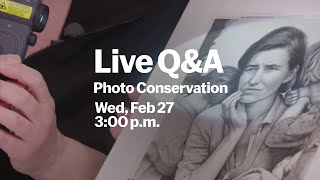 LIVE Q&A with MoMA Photo Conservator and Curator (Feb 27)