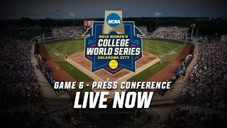 2016 Women's College World Series - Game 6 Postgame Press Conference