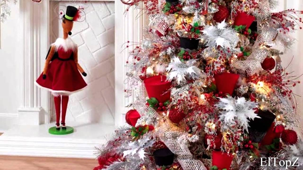 Decorando Arbol De Navidad En Blanco Y Rojo Ideas Decoracion Youtube