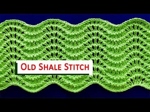 Old Shale Shetland Lace Pattern Youtube