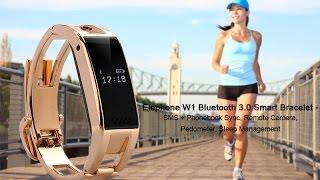 Pulsera Bluetooth Inteligente Metalica Dorada