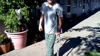 Week#15: Recovery from Calcaneus fracture + ORIF surgery. Walking w/ 1 crutch outdoors..