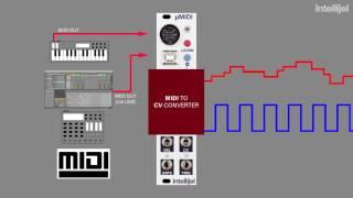 Intellijel µMIDI Tutorial 1 - MIDI to CV