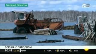 Талые воды затопили село Сарытомар в Северо-Казахстанской области