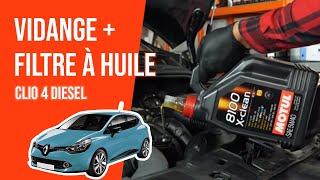 Vidange et changement du filtre à huile Clio 4 1.5 dCi 🛢