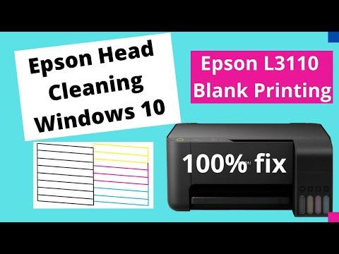Epson Head Cleaning Windows 10 | Nozzle Check Windows 10