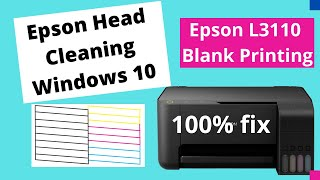 Download How To Remove Missing Lines Nozzle Cleaning Epson L1110 Et
