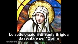 Santa Brigida - Le sette orazioni da recitare per 12 anni