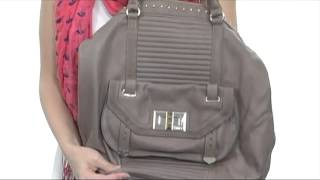 Juicy Couture Rockstar Leather Zip Top Tote  SKU#:8137189