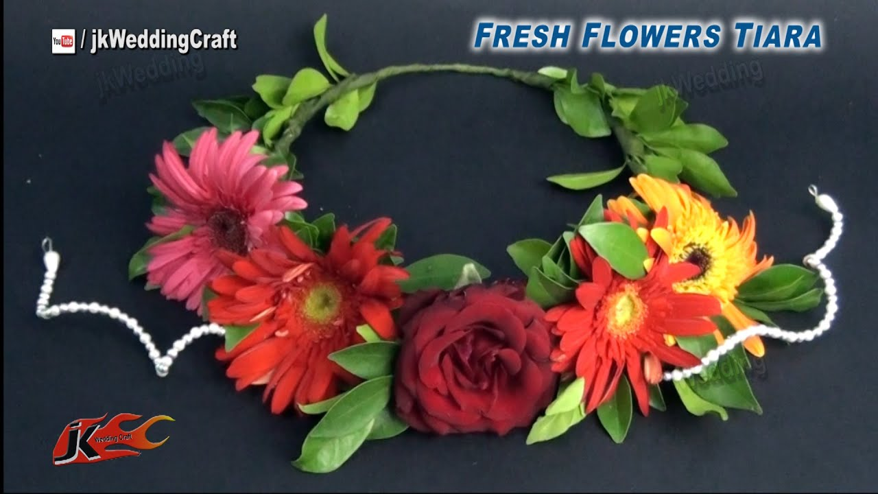 Diy how to make a fresh flower crown tiara jk wedding craft 032 diy how to make a fresh flower crown tiara jk wedding craft 032 youtube izmirmasajfo
