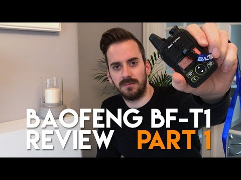 Baofeng T1 Review Part 1 - Review, Test & Programming