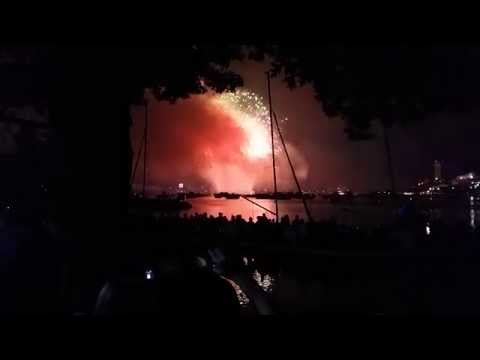 4th of July, 2015 Fireworks show on Charles river Full HD Boston Massachusetts 4th