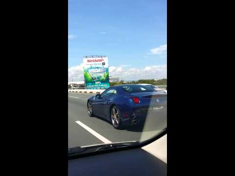 Ferrari cars along SLEX-06.01.2014