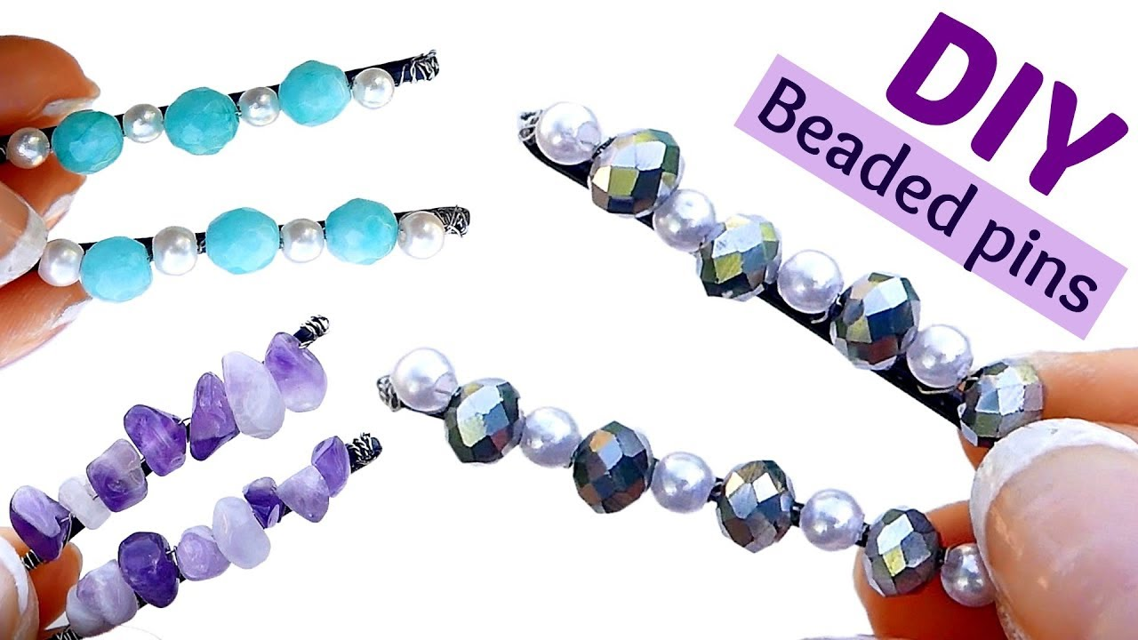 How To Make Beaded Bobby Pins I DIY Cute Hair Accessoires With Bobby ...