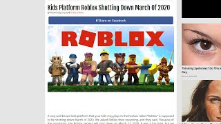 IS ROBLOX REALLY SHUTTING DOWN IN 2020???