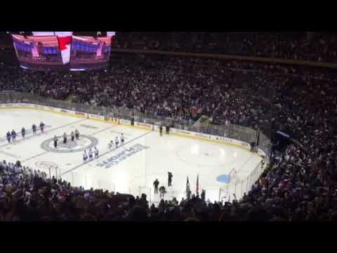 NY Rangers - National Anthem - Playoffs - John Amirante