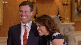Jack Brooksbank first ever TV interview with Princess Eugenie. The One Show. Matt Baker. 22 Jan 2018
