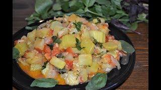 Закуска из кабачков и помидоров.Ооочень вкусно и легко!