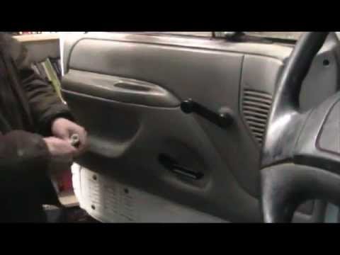 & Replacing interior door handles on a 1996 Ford F-250 - YouTube
