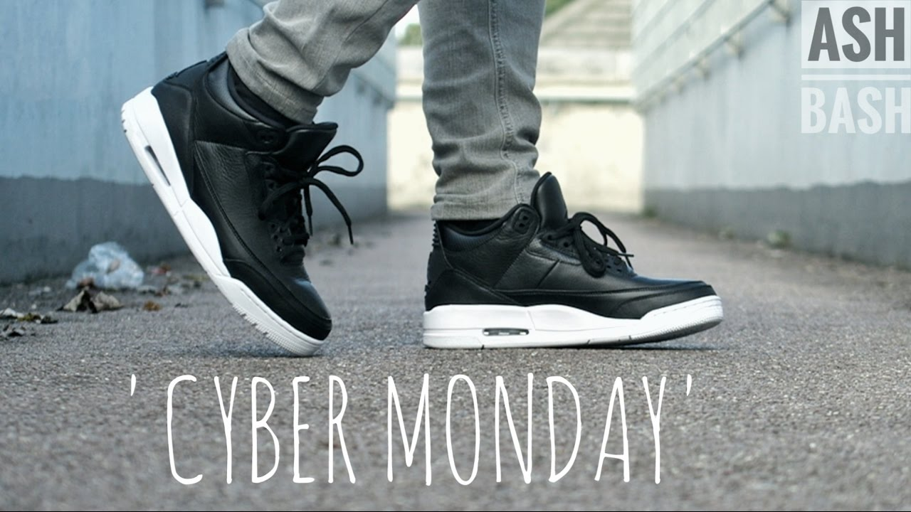 sneakers for cheap e8b36 4eac4 Air Jordan 3   Cyber Monday    SleptOnKicks   Ash Bash - YouTube