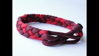 How to Make a French Sinnet/Mad Max Style Closure- 4 Strand Flat Braid Paracord Survival Bracelet