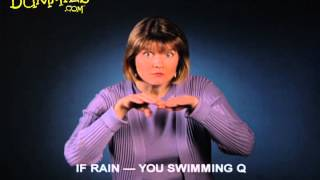 Using American Sign Language (ASL) to Make Plans Based on the Weather - For Dummies