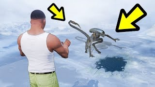 GTA 5 - How to BREAK the Alien out of the ice!