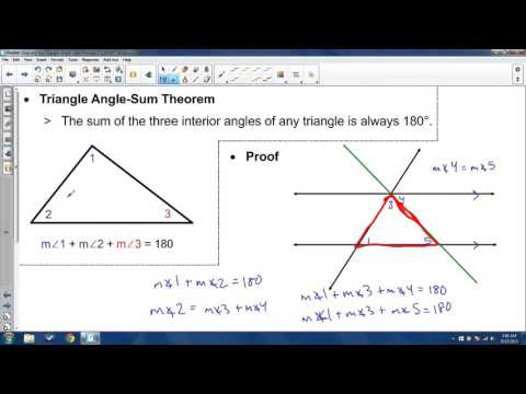 3.4 - Parallel Lines and the Triangle Angle-Sum Theorem