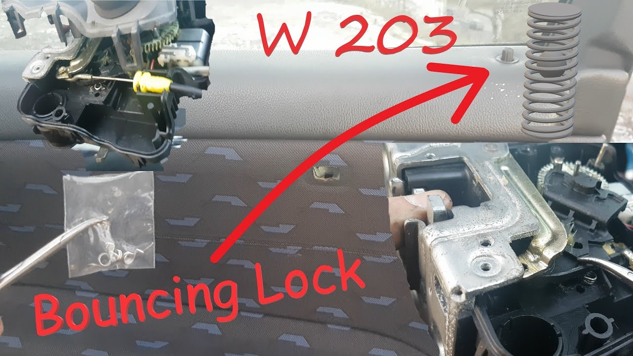 Mercedes W203 Door Lock Actuator Removal And Spring Bounce Repair Youtube