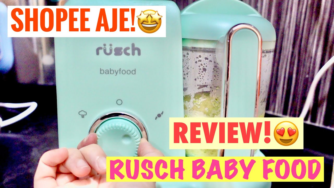 RUSCH BABY FOOD PROCESSOR REVIEW! (STEAM & BLEND)-BROCCOLI AND RICE //BABY FOOD 6 MONTHS & ABOVE