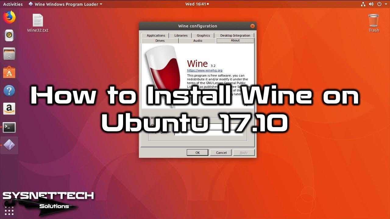 wine ubuntu 17 10