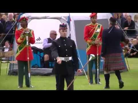 DRUM MAJOR COMPETITION AT BRIDGE OF ALLAN HIGHLAND GAMES 2018
