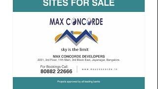 Maxconcorde approved sites in kanakapura road bangalore south