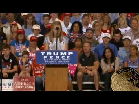 13 year old GIRL Delivers THE BEST SPEECH EVER at Donald Trump Rally Arizona Phoenix SUPER FUNNY ✔