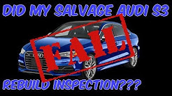 Audi S3 FIRST DRIVE: THIS is how you PASS a Salvage Rebuild Car Inspection