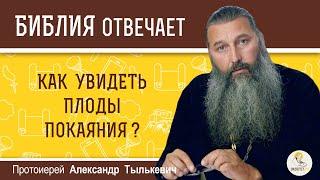 Как увидеть плоды покаяния Библия отвечает Протоиерей Александр Тылькевич