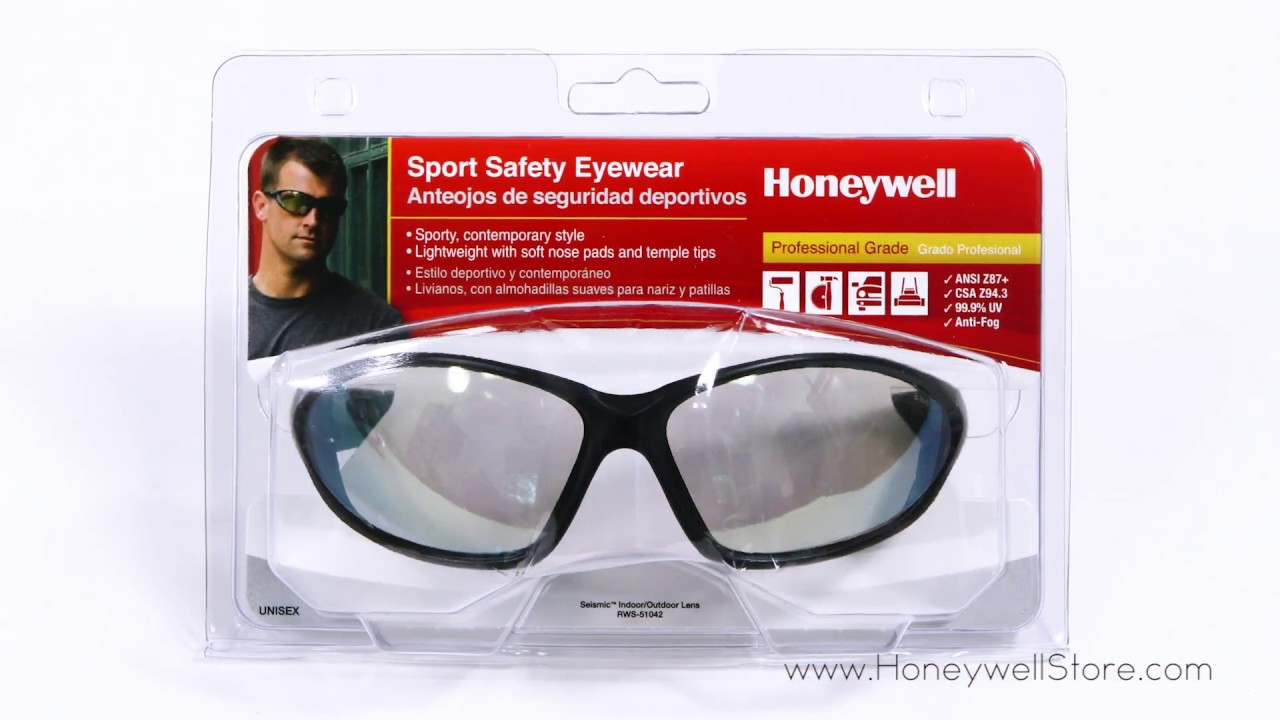 d7d9d5dc4ce2 Honeywell Uvex Seismic Sport Safety Eyewear with Black Frame and  Indoor Outdoor Lens (RWS-51042)