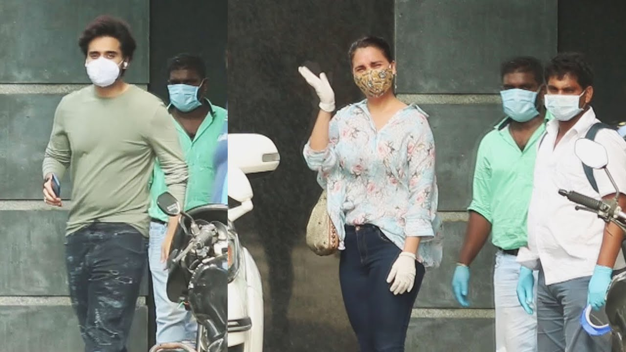 Lara Dutta And Jacky Bhagnani Spotted At Pooja Entertainment Office Juhu